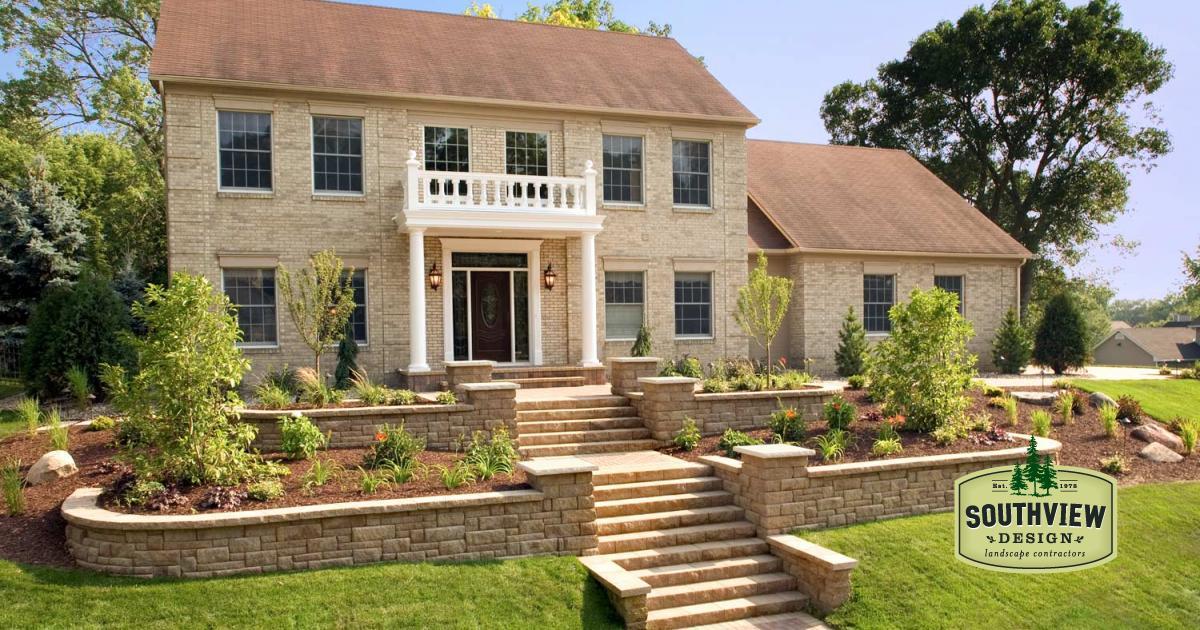 Front Yard Landscape Design In Eden Prairie Mn Southview Design