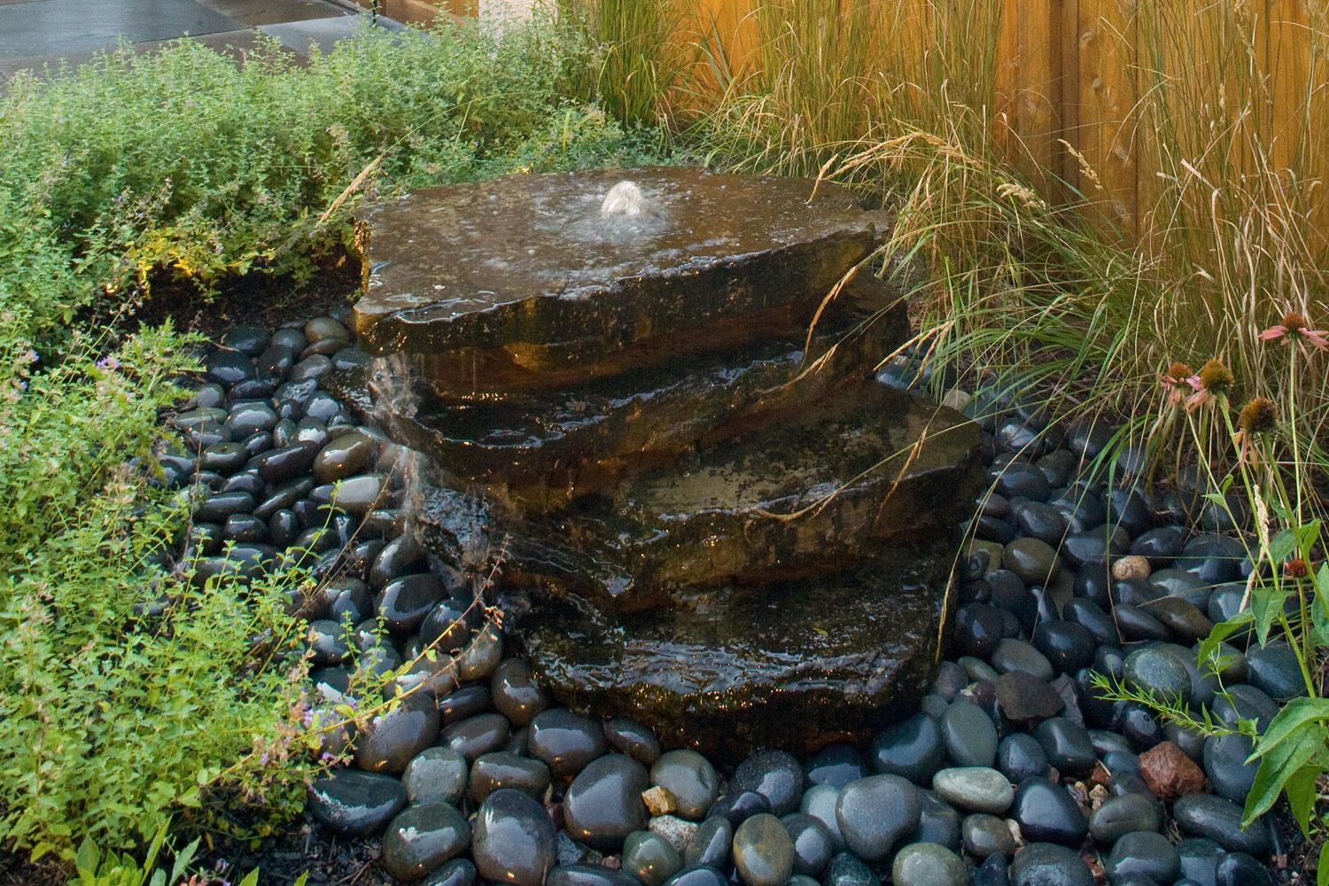 New York Bluestone Water Pondless Waterfall Feature  in Minneapolis MN