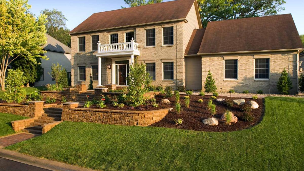 Front Yard Landscape Design In Eden Prairie Mn Southview Design