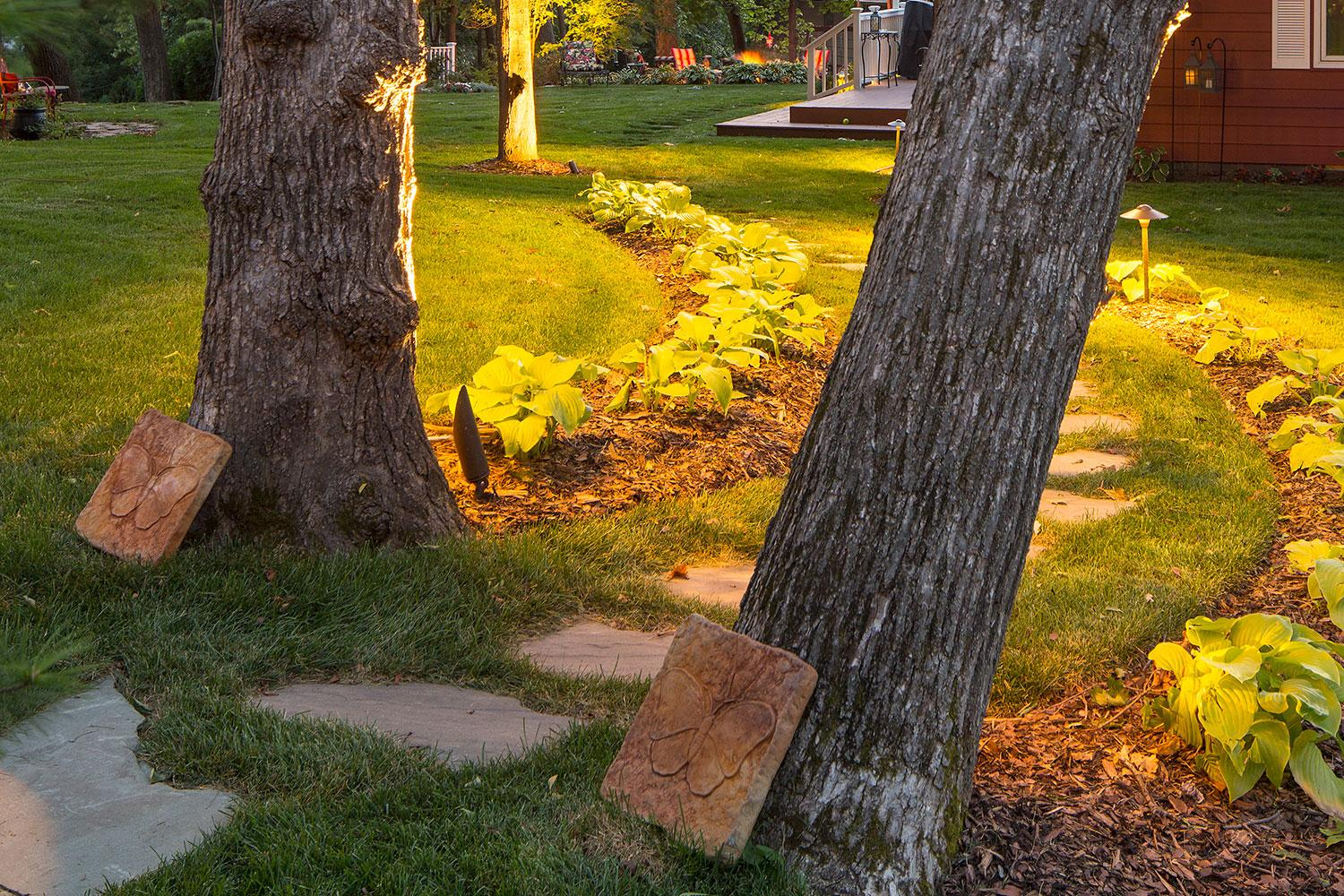 Flagstone Path and Nightlighting