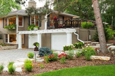 Minnetonka Home Exterior and Landscape Makeover with new Front Entry