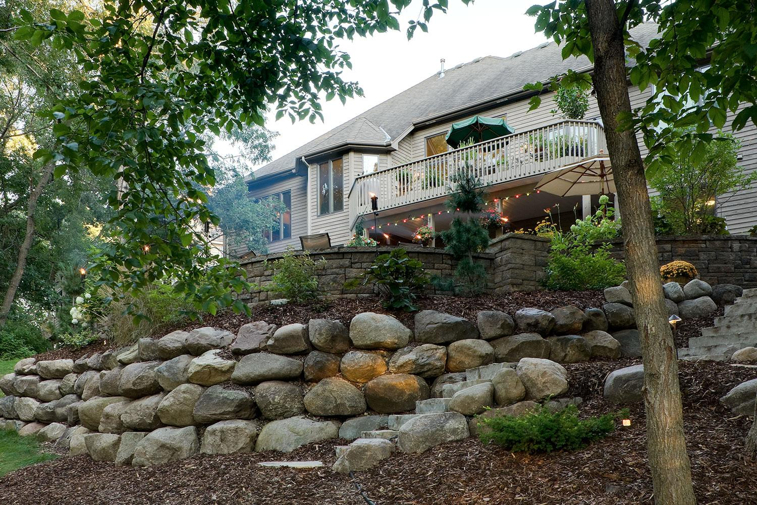 hillside retaining walls