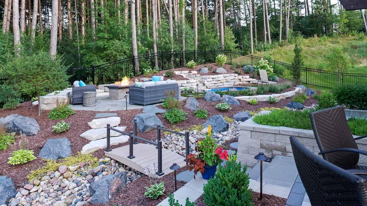 No-Mow Forest Backyard in Inver Grove Heights | Southview ... on No Mow Backyard Ideas id=50629