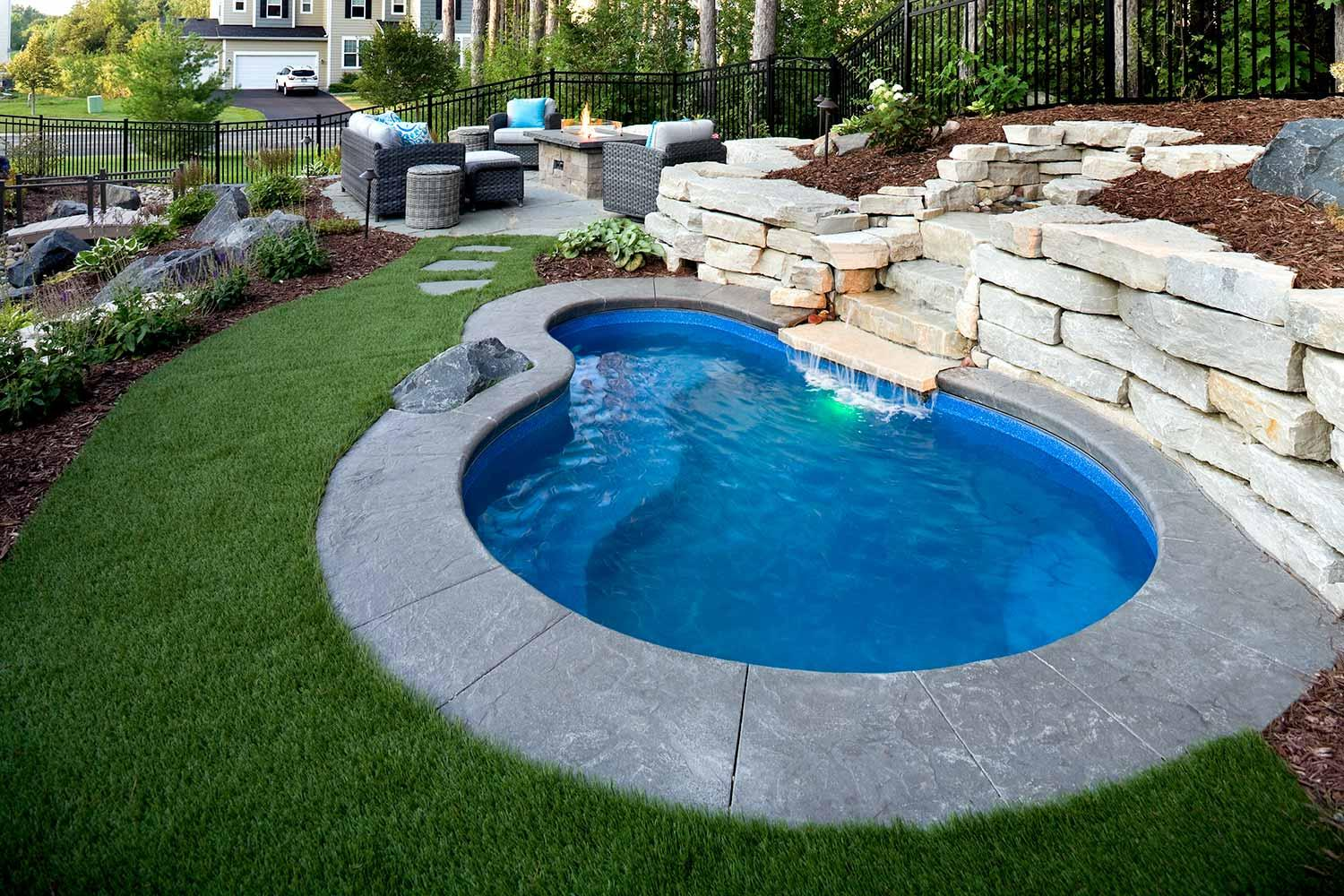 Inver grove heights backyard plunge pool