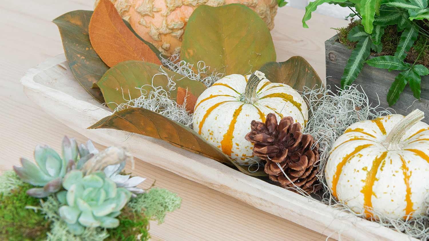 gourds and foliage design