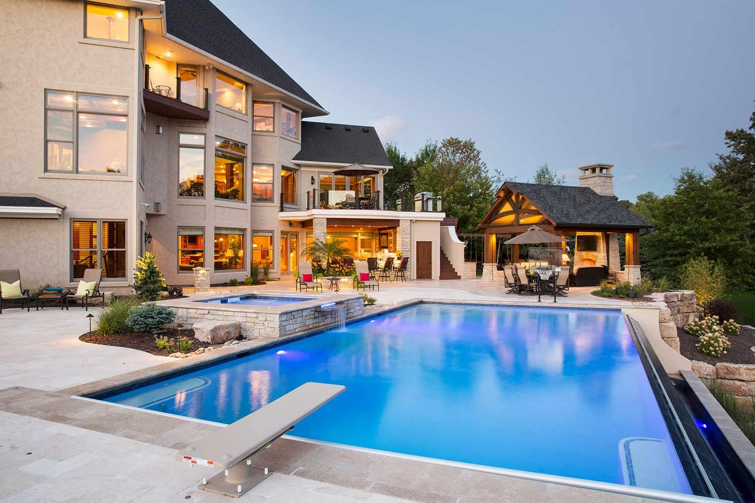 Swimming Pool Landscape Design in Hastings Mn