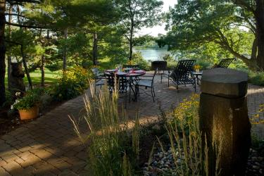 Lakeshore landscape design patio