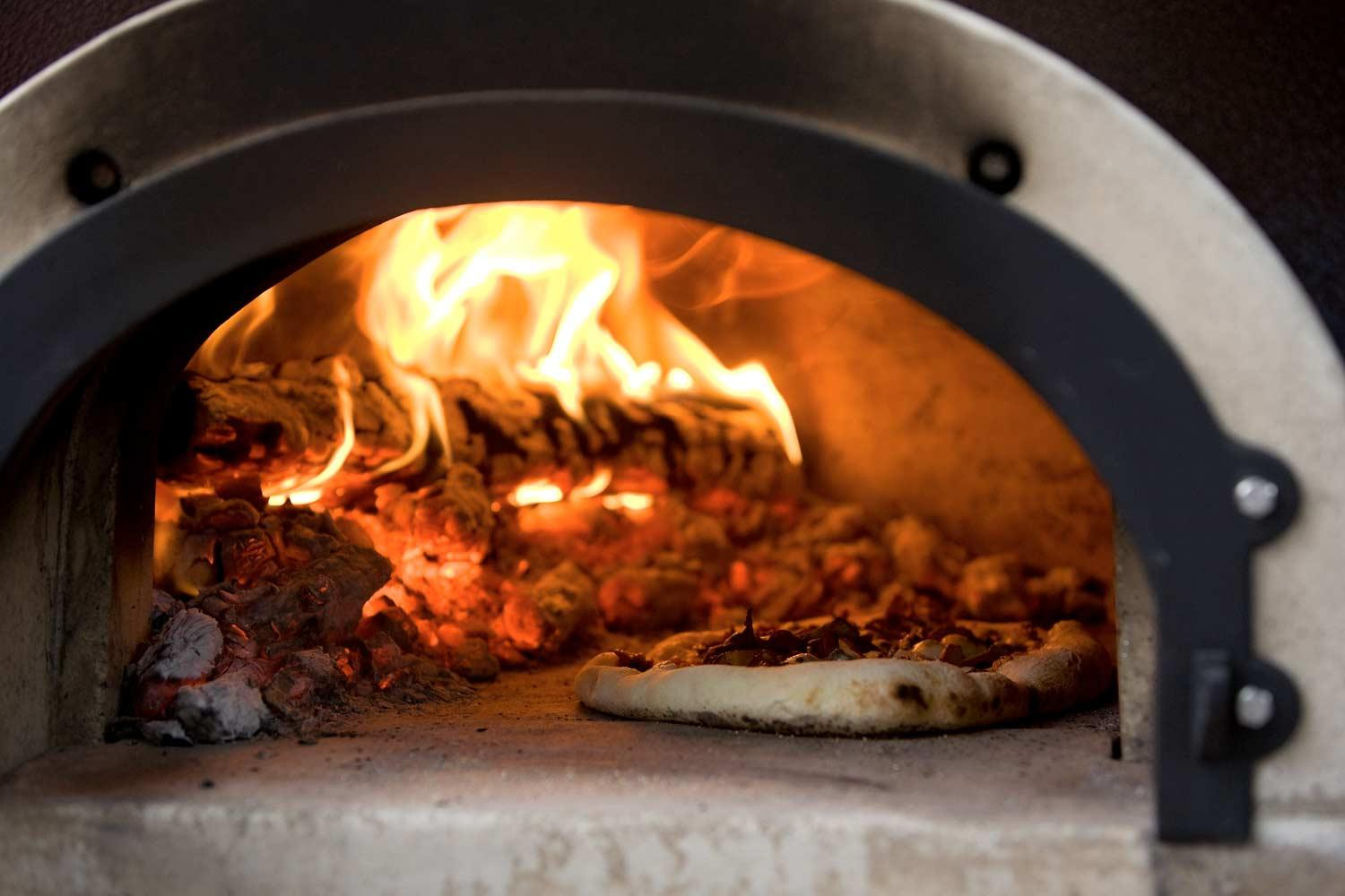backyard wood fired pizza oven