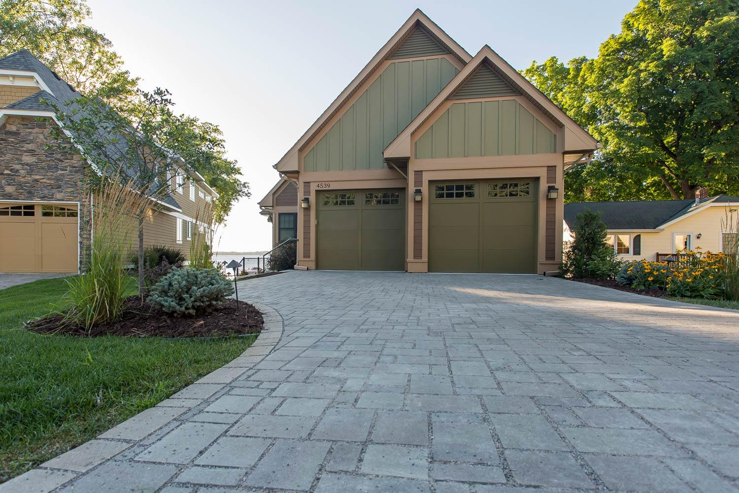 Permeable Paver Driveway on Lake Minnetonka in Mound
