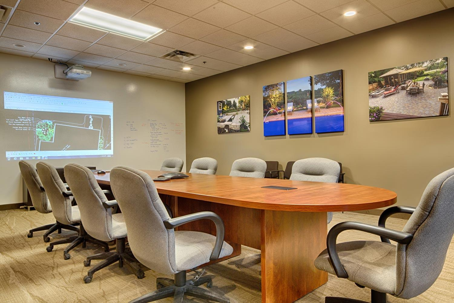 Landscape architects conference room at Southview Design.