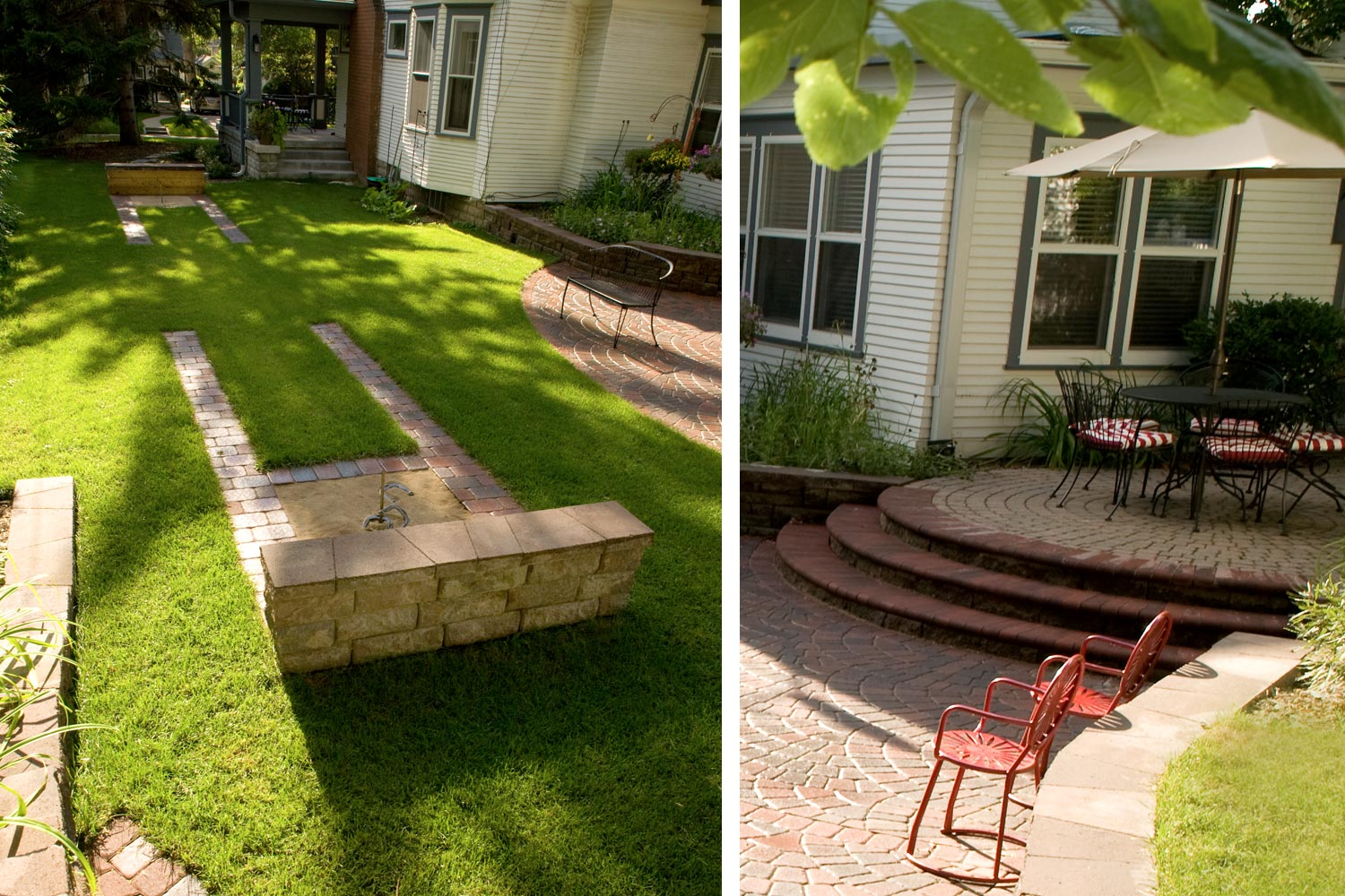 Minneapolis Landscaping Sideyard Horseshoes and Patio