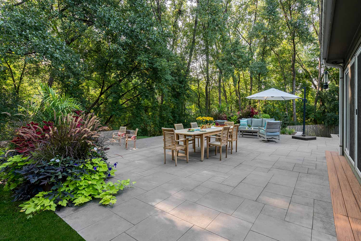 multi-level modern patio in golden valley