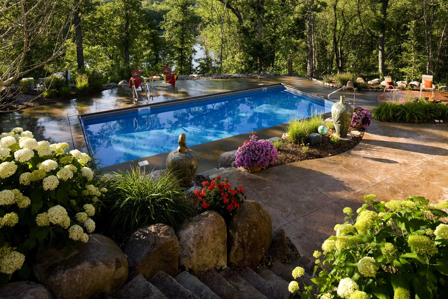 Swimming Pool Landscape In Inver Grove Heights Mn