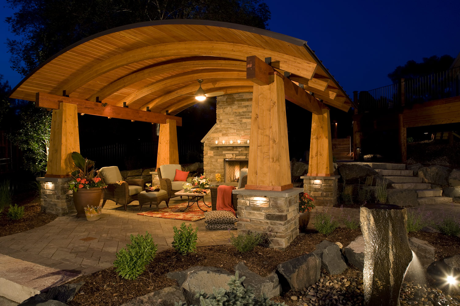 Outdoor living room design in Woodbury, MN