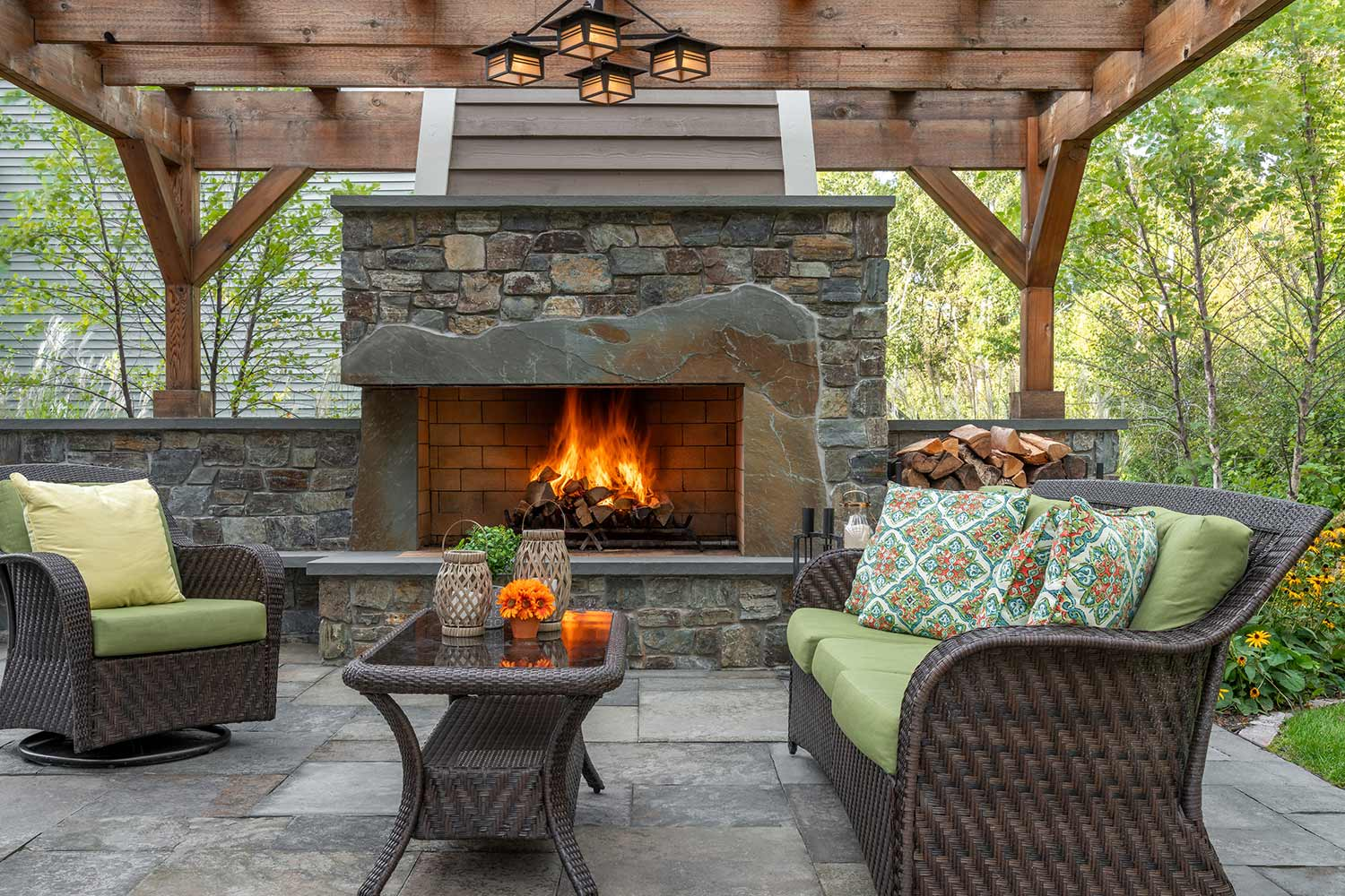 Rosemount, MN Backyard Landscaping | Southview Design on Fireplace In The Backyard id=29298