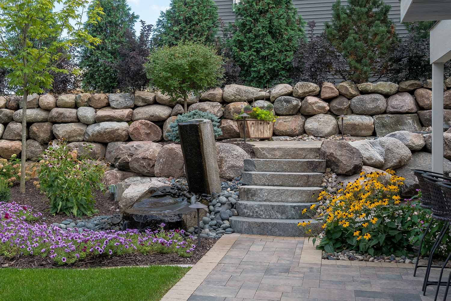 Stone Brick And Concrete Landscaping Steps Stairs Southview