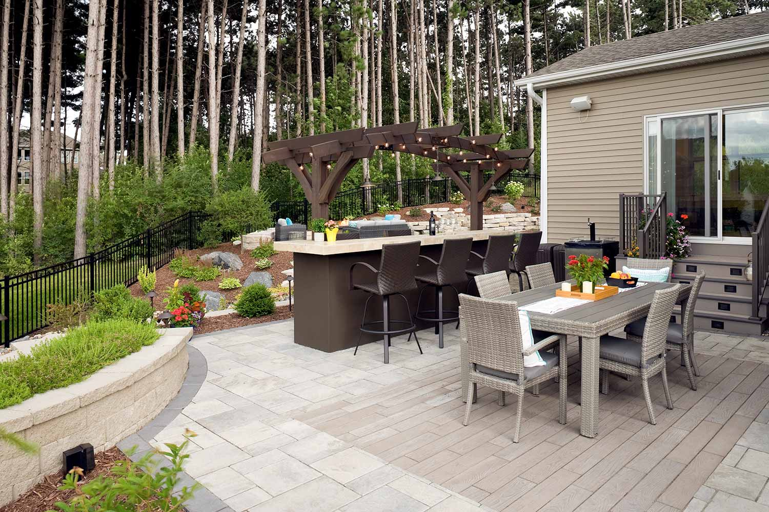 No-Mow Forest Backyard in Inver Grove Heights | Southview ... on Backyard Paver Patio Designs id=72585