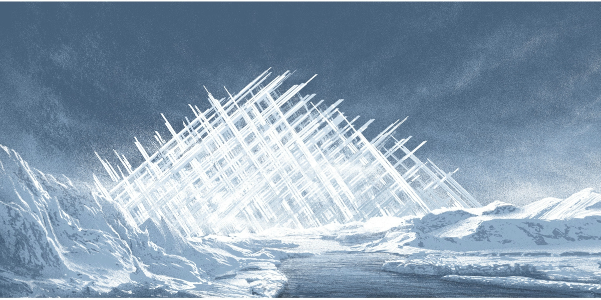 A pyramid of ice - the fortress of solitude