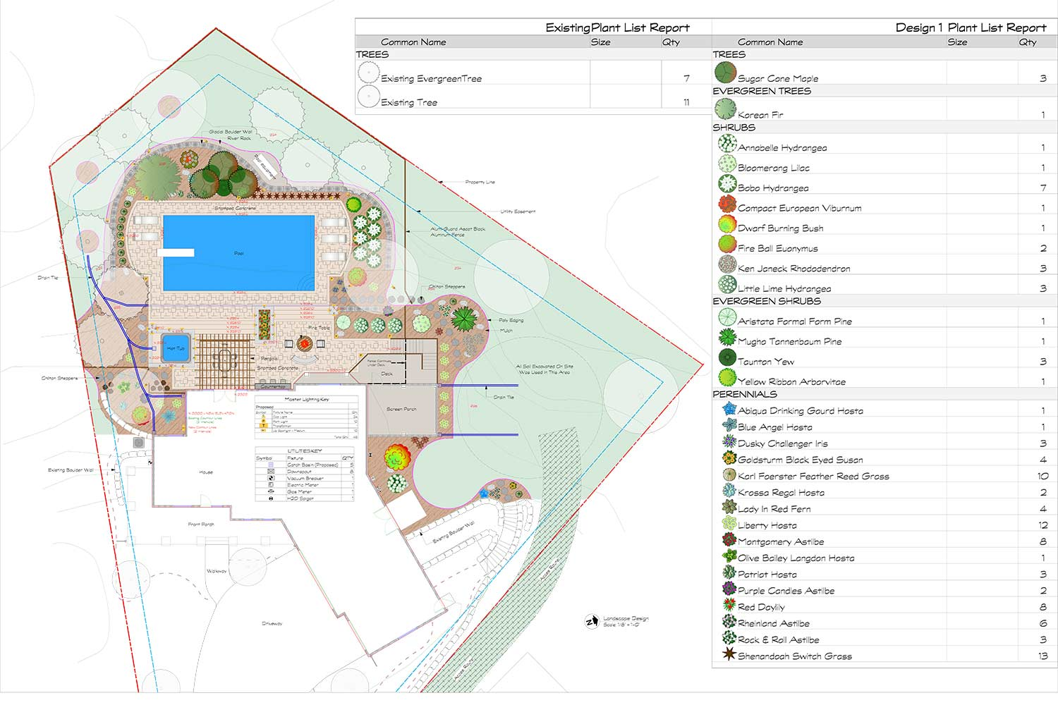 landscape design plan blueprint