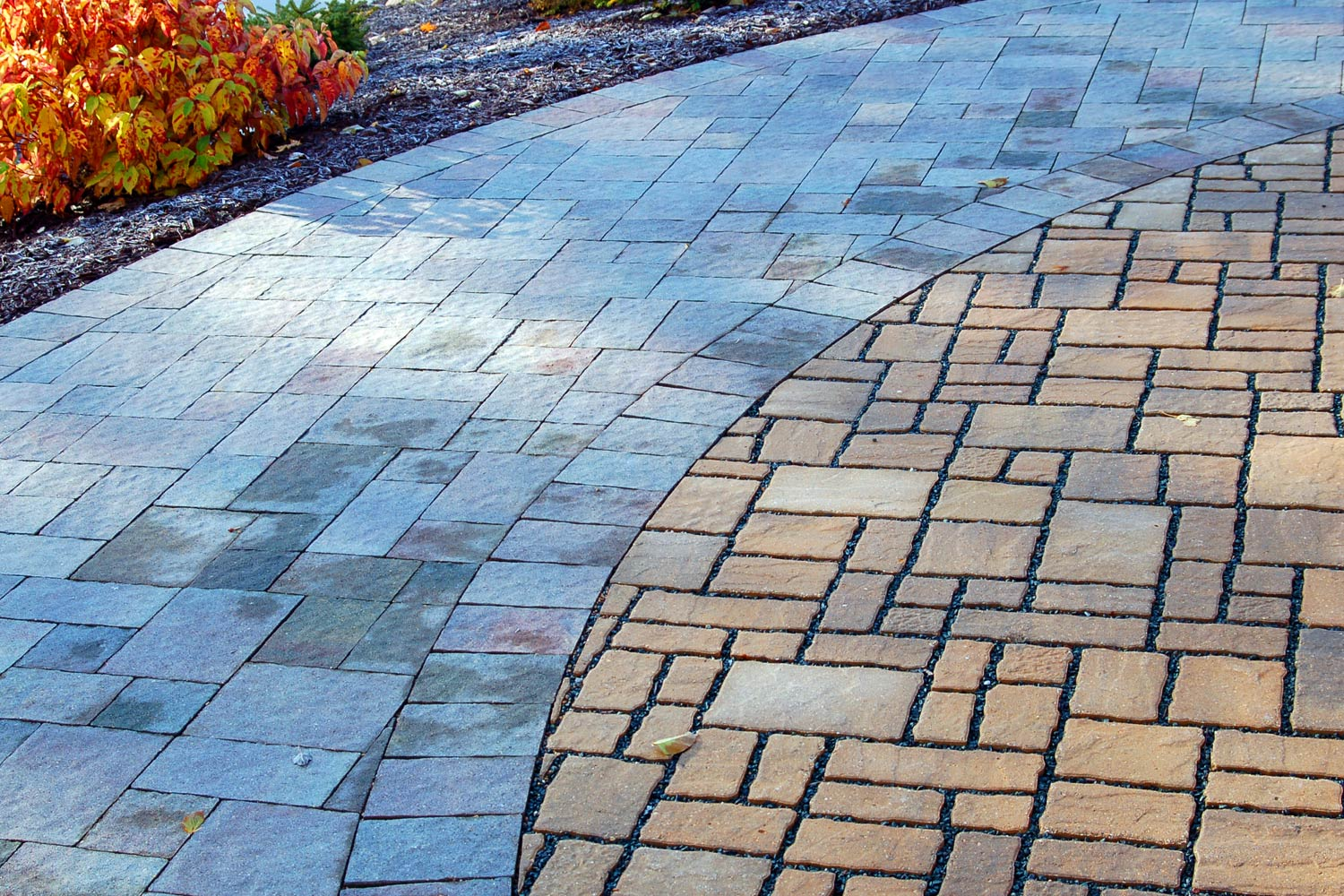 up close view of permeable pavers