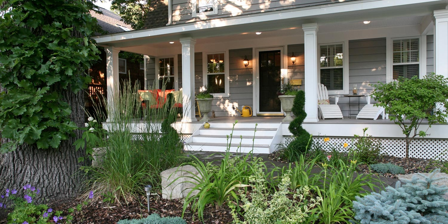 Garden and Front entry Landscaping in Minneapolis Mn